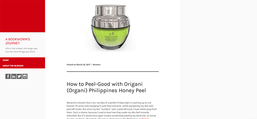 How to Peel-Good with Origani (Organi) Philippines Honey Peel