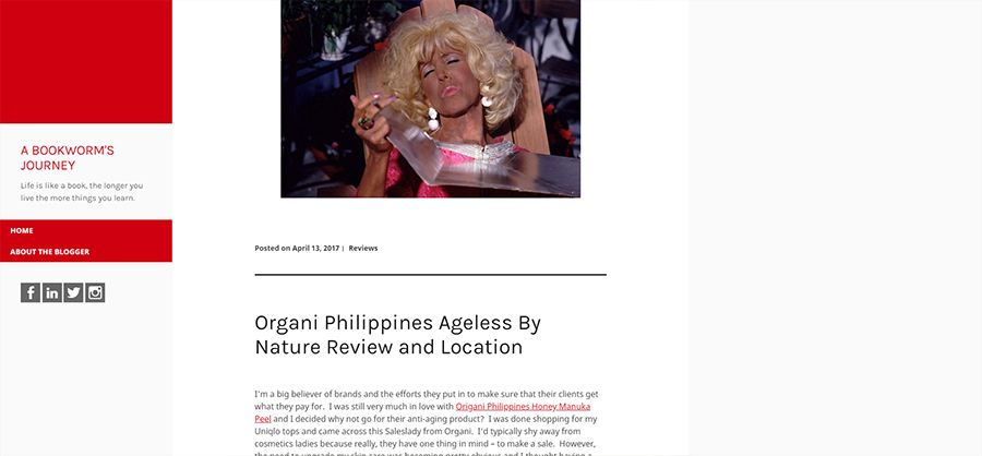 Organi Philippines Ageless By Nature Review and Location