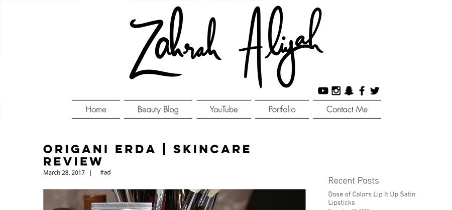 Origani Erda | Skincare Review