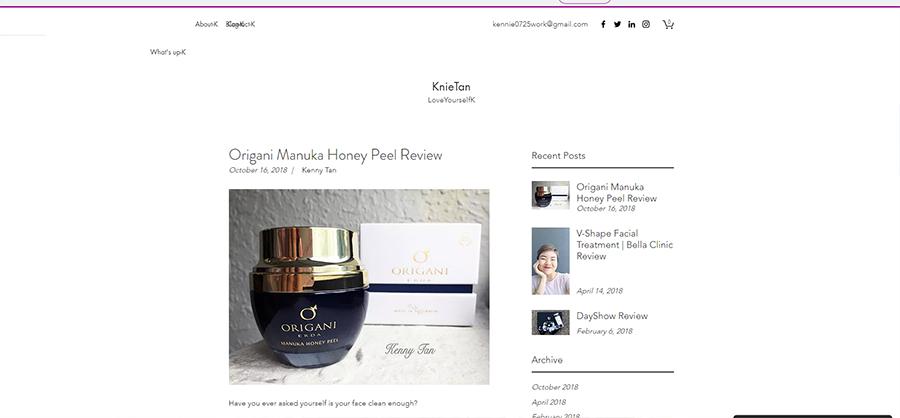 Origani Manuka Honey Peel Review